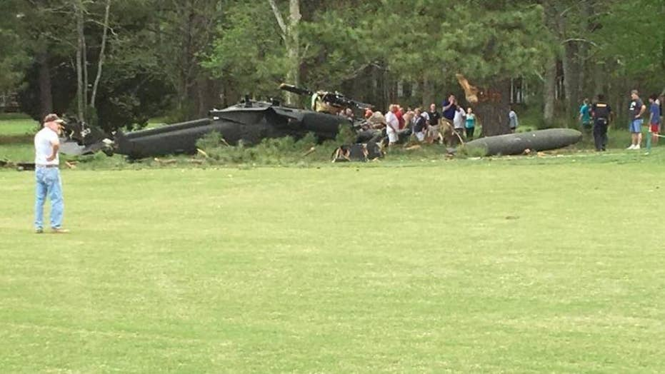 Army Blackhawk helicopter crashes on Maryland golf course