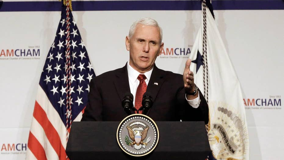 Pence keeps up tough talk on North Korea during Asia trip