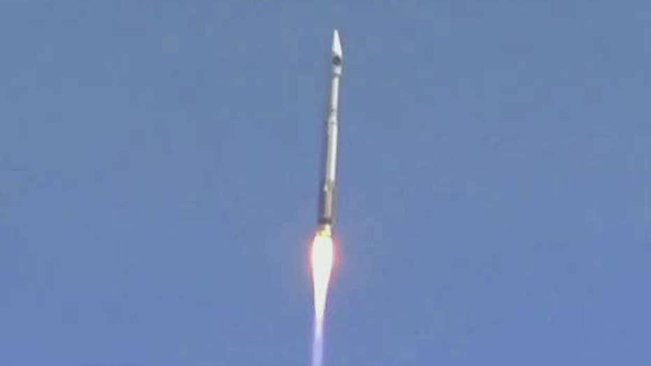 Atlas V rocket takes off for International Space Station