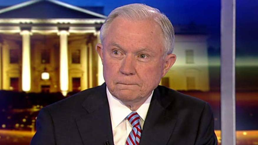 Attorney General Jeff Sessions addresses the danger posed the Central American MS-13 gang to Americans, its history in the US and the plan to beat them, saying 'We're going after them!' #Tucker