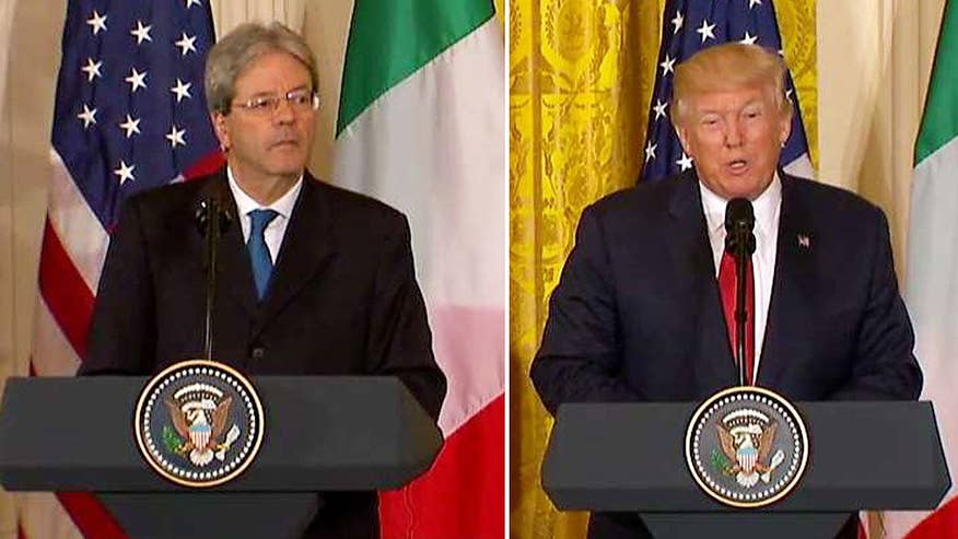 President Trump and Italian PM hold joint news conference at the White House