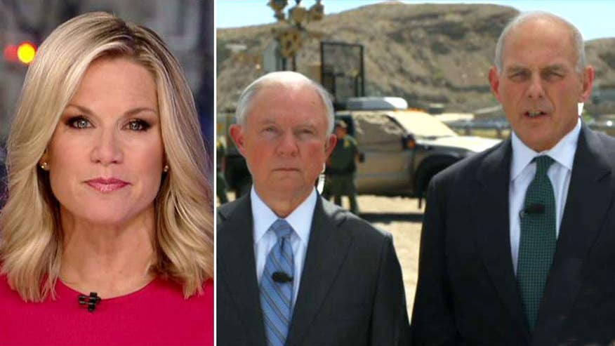 Attorney general and DHS secretary discuss their trip to the US-Mexico border on 'The First 100 Days'