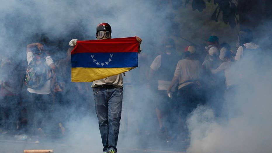 Venezuelan rioters participate in mother of all protests