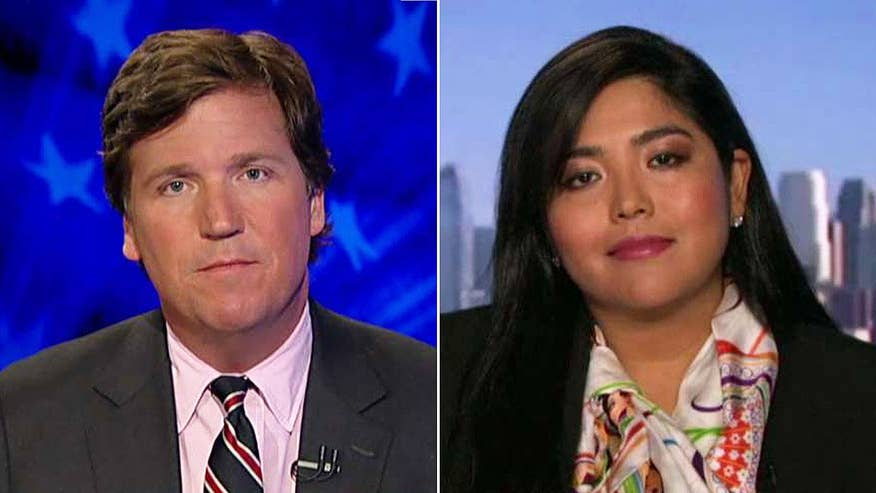 Tucker takes on undocumented immigrant who became a VP at Goldman Sachs and an American citizen and says president's deportation force is scarier than his proposed border wall, which is a 'symbol of hate' #Tucker