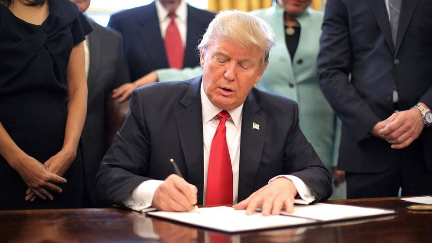 President Donald Trump makes good on campaign promises, signing dozens of executive orders, actions and memorandas, while turning back a number of Obama-era regulations