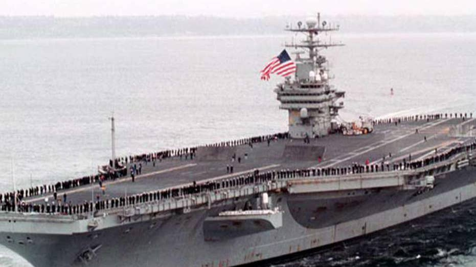 USS Carl Vinson pilot ejects safely at sea