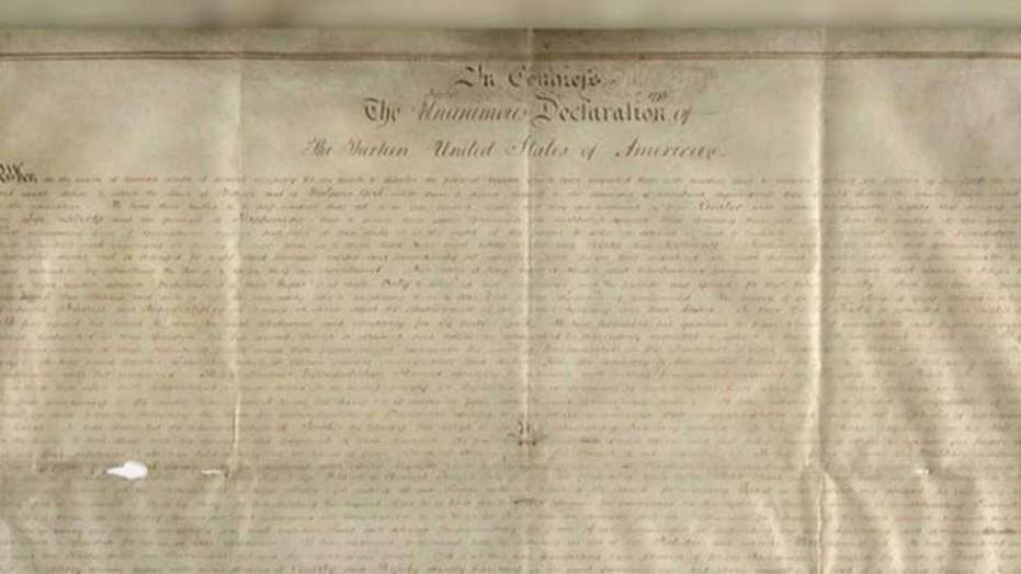 Copy of Declaration of Independence found