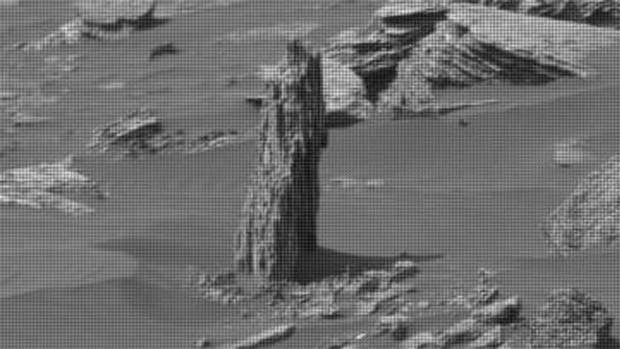 NASA's Mars Curiosity Rover revealed a formation that some UFO hunters are claiming is a petrified tree
