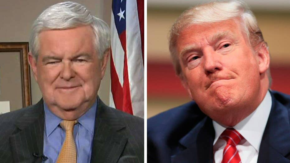 Gingrich would give Trump 'high marks' for the opening round
