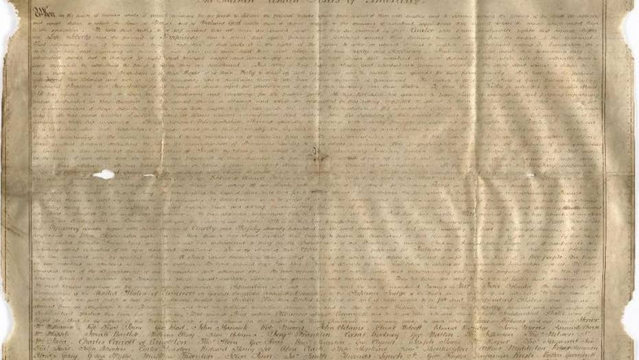 Researchers find rare copy of Declaration of Independence