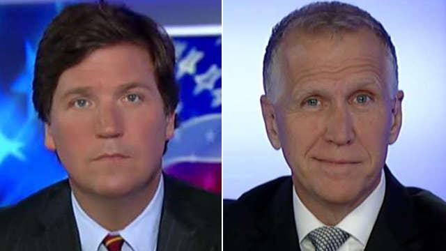 Tucker vs Republican lawmaker skeptical about Trump's wall