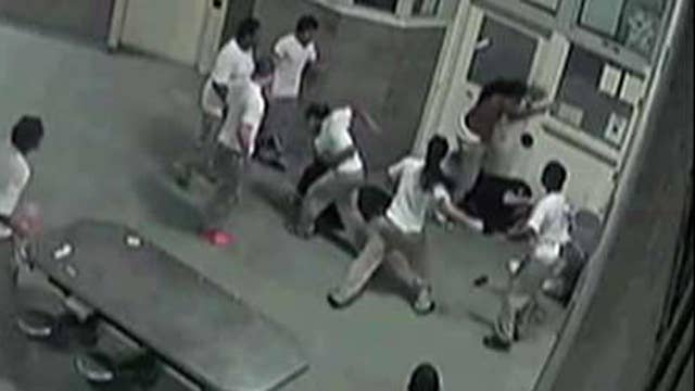 Inmates savagely beat officers in maximum security jail