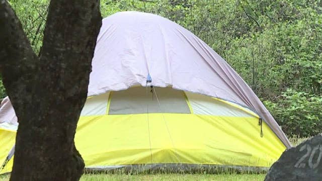 Couple's camping trip turns into scene from horror film ...