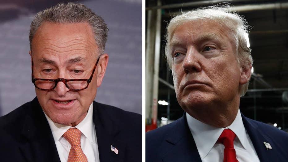 Trump accuses Schumer of 'leading Democrats to doom'