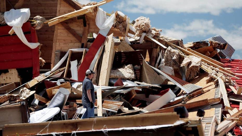 'Like a war zone': Residents assess tornado damage in Texas