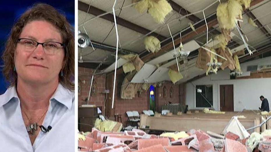 Parishioners survive powerful Texas tornado in church