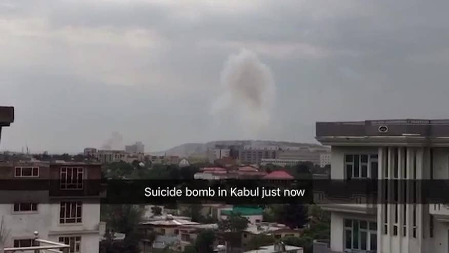 Raw video of the Kabul suicide bombing that attacked a NATO convoy