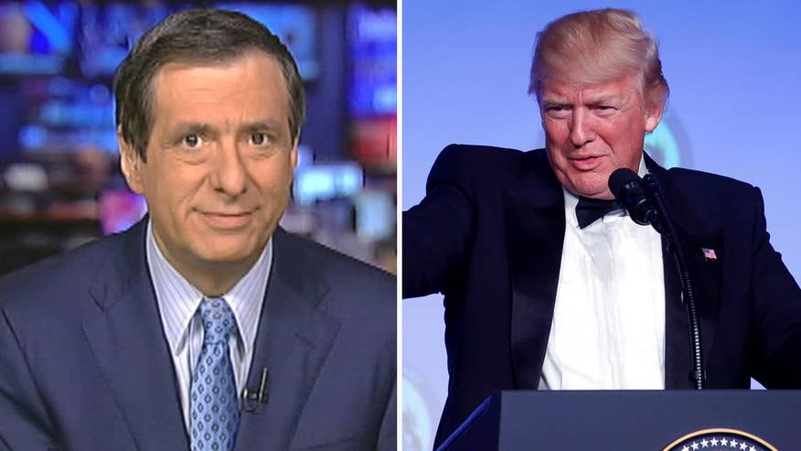 'MediaBuzz' host Howard Kurtz weighs in on the record number of negative jokes by late night comedians targeted at President Trump
