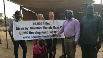 Goats for the Old Goat donates its 10,000th goat