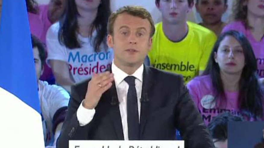 Macron takes early lead in the polls
