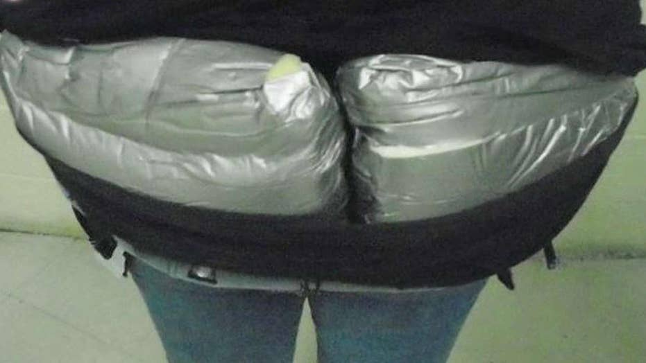 Woman caught smuggling heroin across border