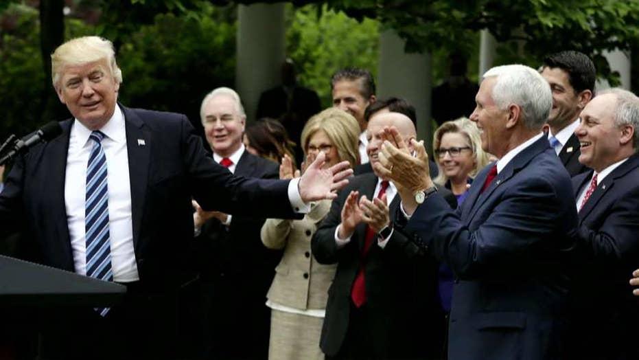 Media question Trump's health care win