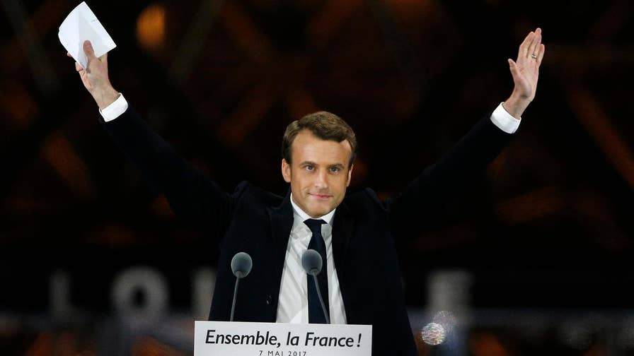 Macron won with 66 percent of the vote