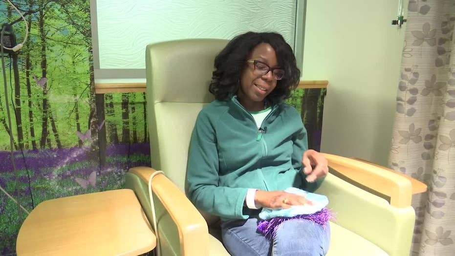 Knitters make thousands of hats for chemo patients