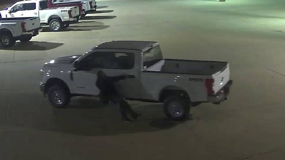 Suspected car thieves nearly foiled by rolling truck