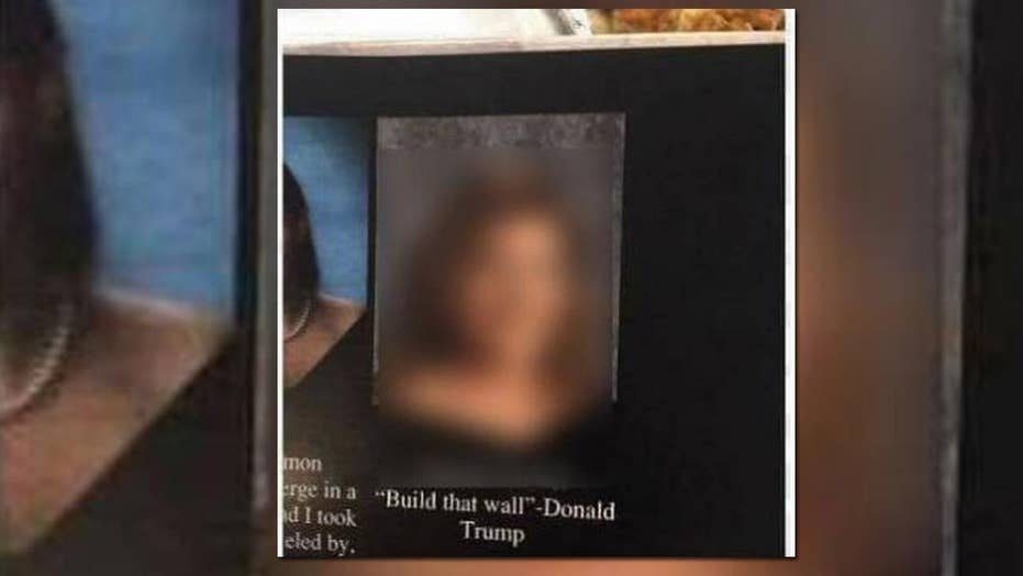 Yearbooks confiscated for student's 'build that wall' quote