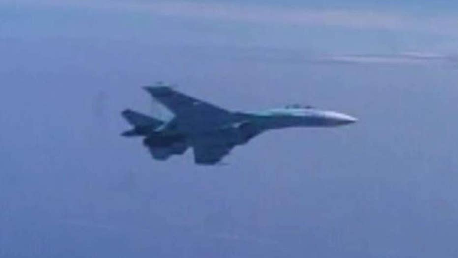 Russian fighter jet flies within 20 feet of US Navy aircraft