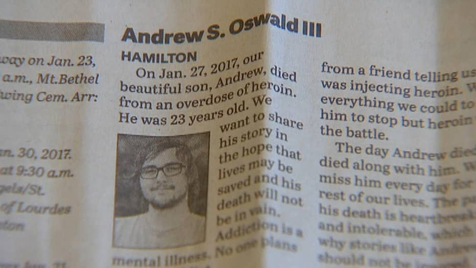 Opioid addiction crisis spurs brutal candor in obituaries