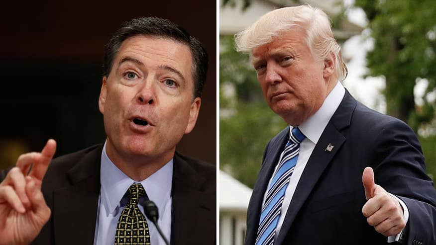 Says New York Times report is not a 'truthful or accurate portrayal' of conversation between the president and then-FBI Director Comey; John Roberts reports from the White House