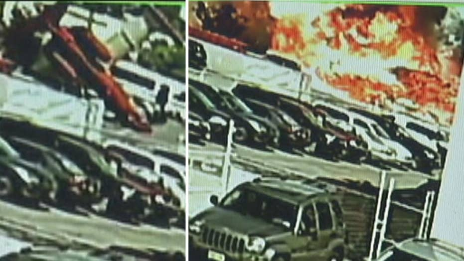 Moment of impact in deadly jet crash caught on camera