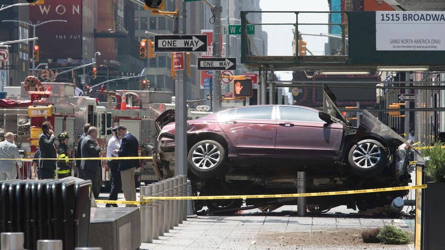 At least 13 injured after car plows into pedestrians in New York City