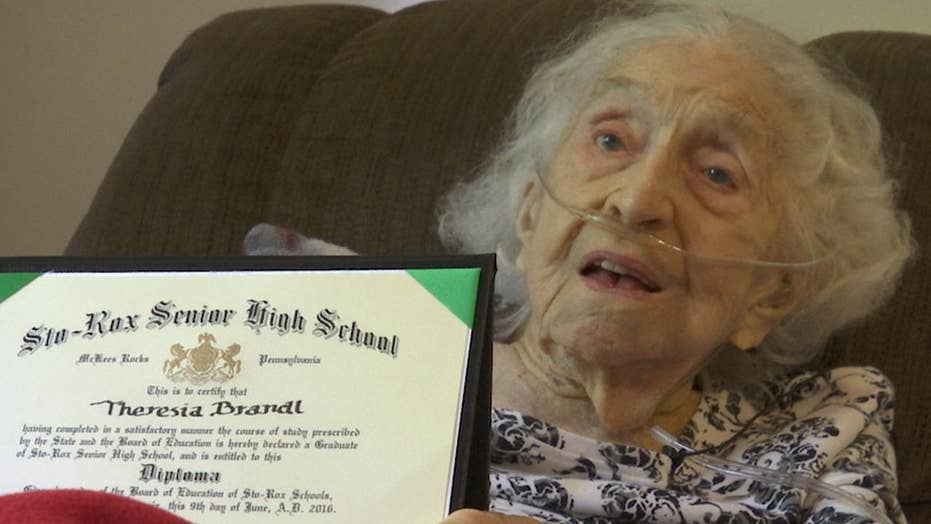 105-year-old woman finally gets high school diploma