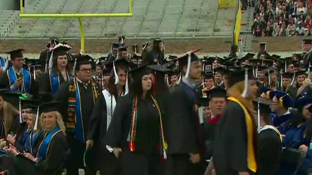 Students walk out during Pence commencement speech