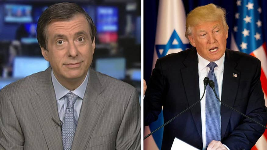 'MediaBuzz' host Howard Kurtz weighs in on the 'split-screen presidency' Donald Trump faces as he represents America abroad while the media tackles his many scandals back home