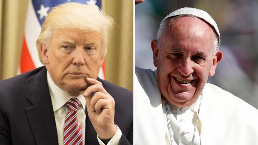 President Donald Trump is visiting with Pope Francis at the Vatican in their first face-to-face visit.  Their relationship is complicated. Here's what the president and pontiff have previously said about each other