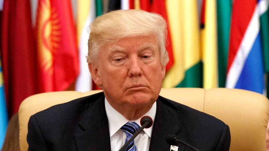 President Trump ditches campaign rhetoric on Mideast trip