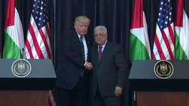 Trump holds joint press conference alongside Palestinian President Abbas