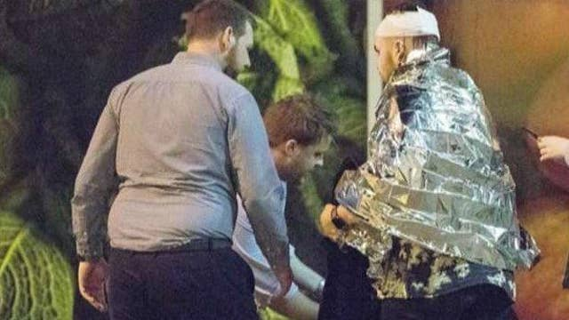 Video from inside Manchester Arena captures blast, panic