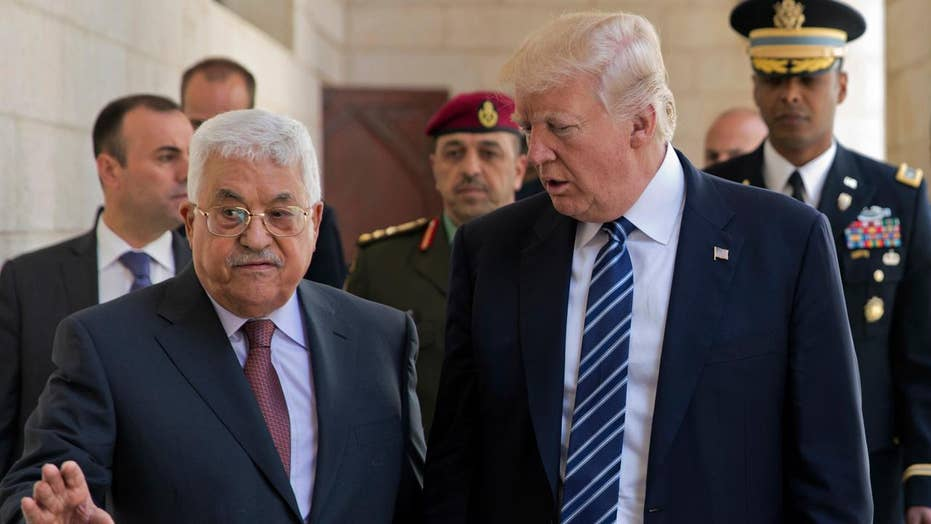 Donald Trump meets with Palestinian President Abbas
