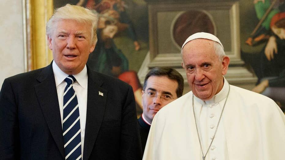 Terrorism tops Trump's agenda in Brussels, meeting with pope