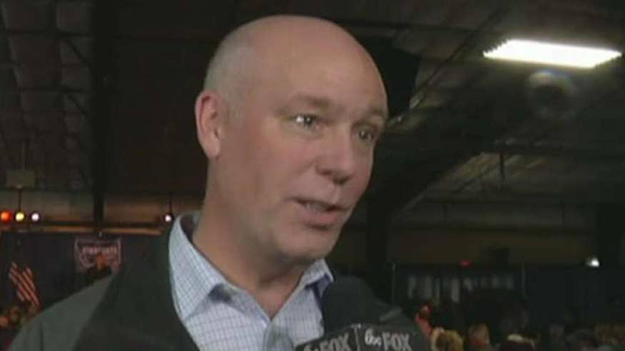 Montana candidate blames the reporter for the incident