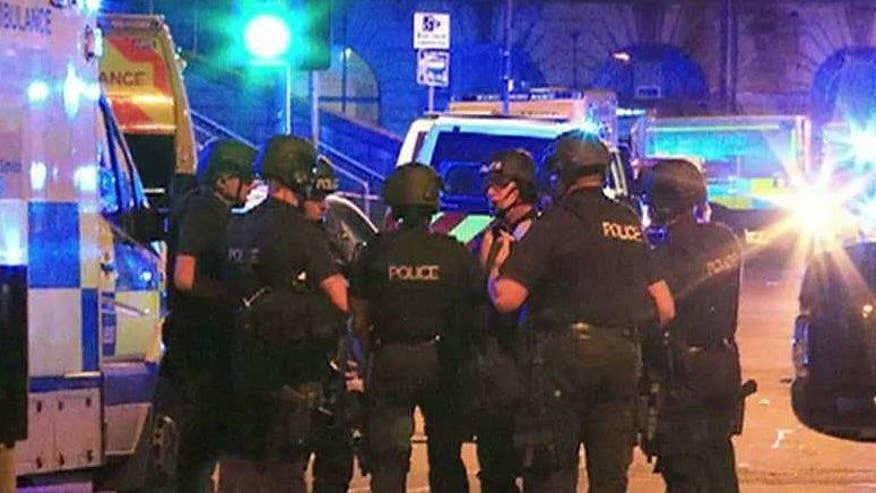 Trauma centers told to prepare for the possibility of another attack this holiday weekend; senior correspondent Rick Leventhal reports from Manchester, England