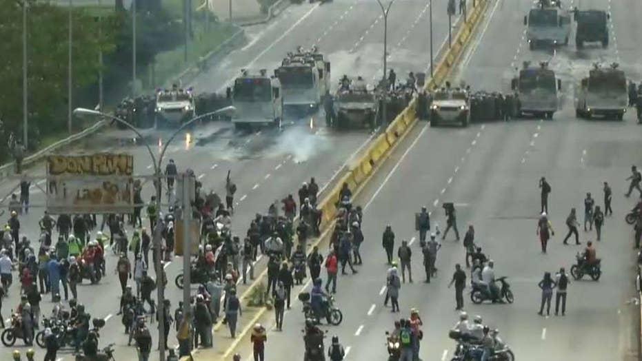Anti-government protests underway in Caracas, Venezuela