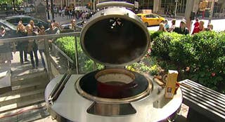 Nick Aucoin talks about the Kamado grill