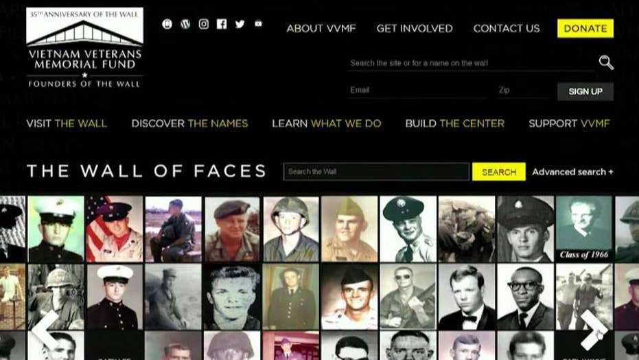 Vietnam Veterans Memorial Fund creates virtual wall of faces