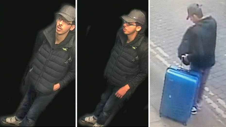 Manchester police release images of bombing suspect